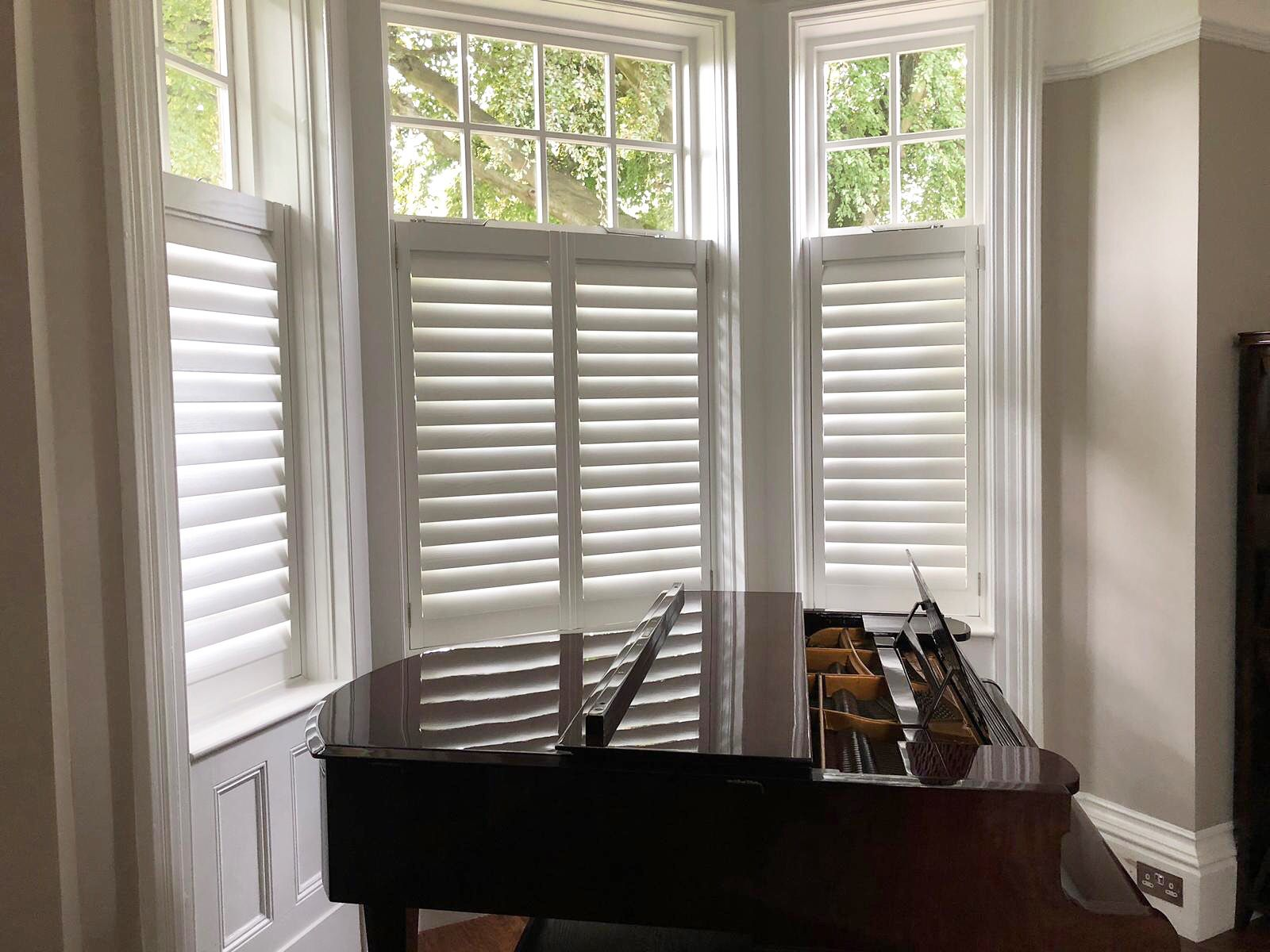 Beautiful cafestyle hardwood shutters fitted in