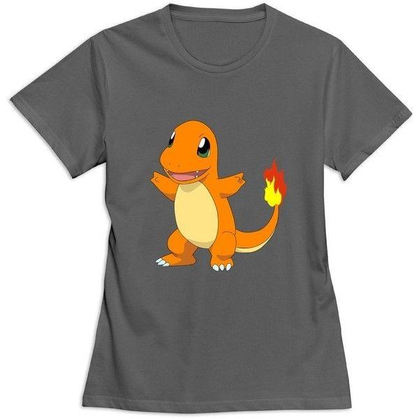 ZYA6W Girls Pokemon Charmander Causal Geek T Shirt ❤ liked on ...
