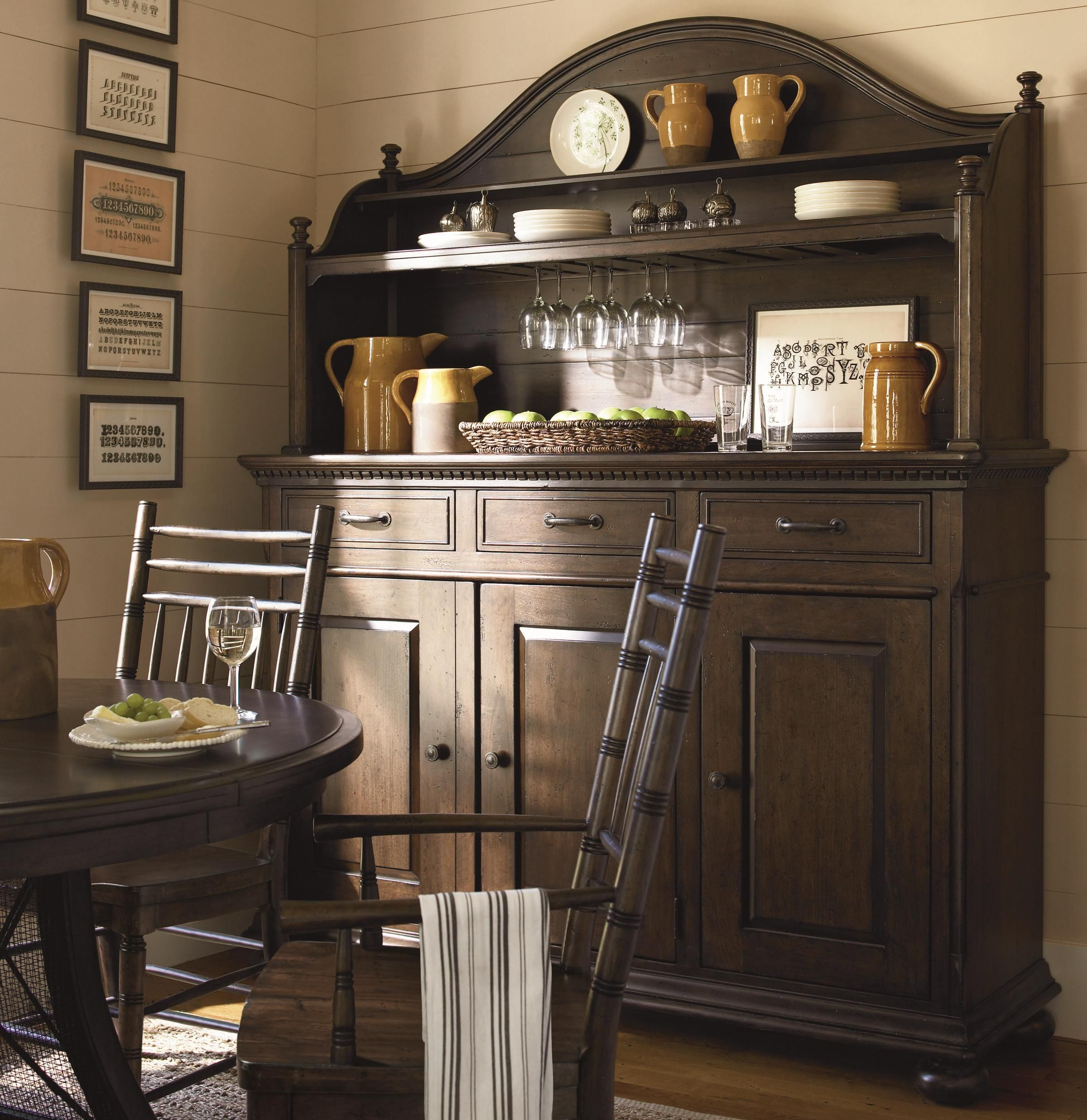 Kitchen Furniture Outlets: Down Home Hostess Credenza And Hutch By Paula Deen By