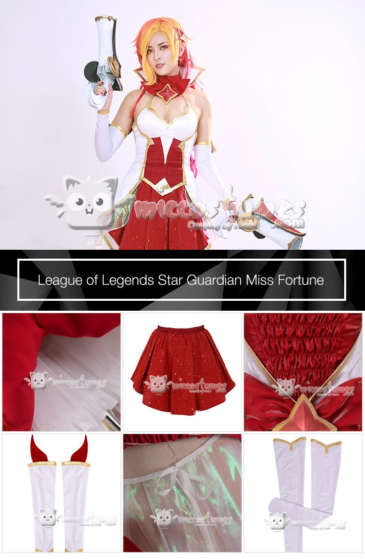 LOL Start Guardian Miss Fortune Cosplay Costume Christmas Dress Free Shipping