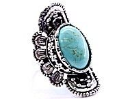 'Beautiful Faux Turquoise Ring' is going up for auction at  6am Wed, Jul 18 with a starting bid of $6.