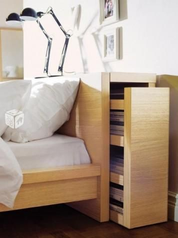 Foto De Cabecero Serie Malm Ikea Con Mesillas Extraibles
