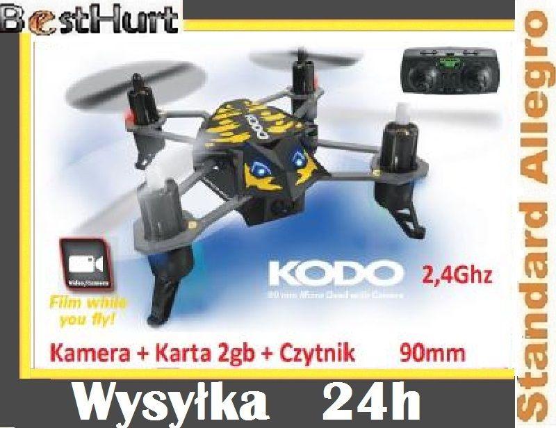 Dron Kodo Quadrocopter Kamera 2gb 2 4ghz Led 5168576302 Oficjalne Archiwum Allegro Led Radio Quadcopter