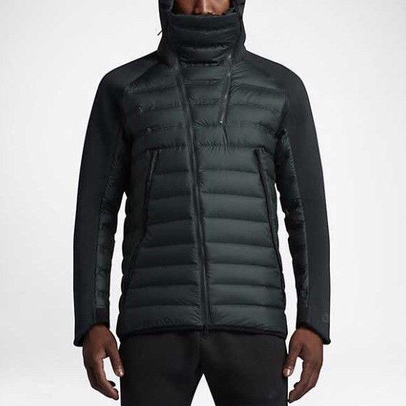 4b43072db3ad New Nike Tech Fleece Aeroloft Grey Goose Down Jacket Dark Green Black Sz L   375  fashion  clothing  shoes  accessories  mensclothing  coatsjackets  (ebay ...