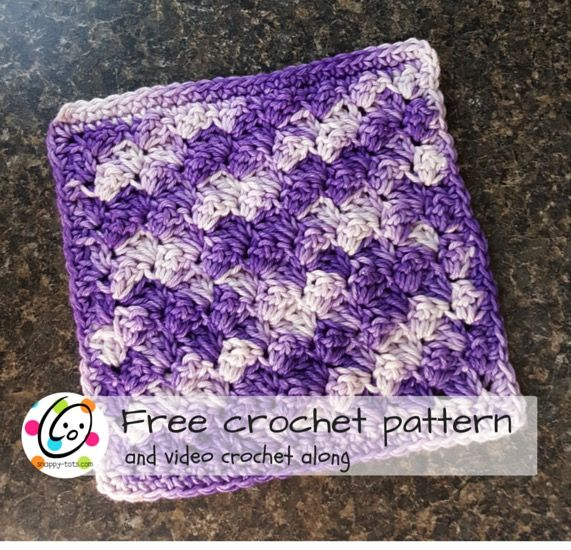 Free Pattern: Grape Jam Washcloth | Paños, Ganchillo y Cocinas