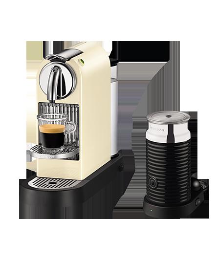 CitiZ 乳白色 & Aeroccino3+ 黑色組合   Coffee maker. Nespresso. Kitchen appliances
