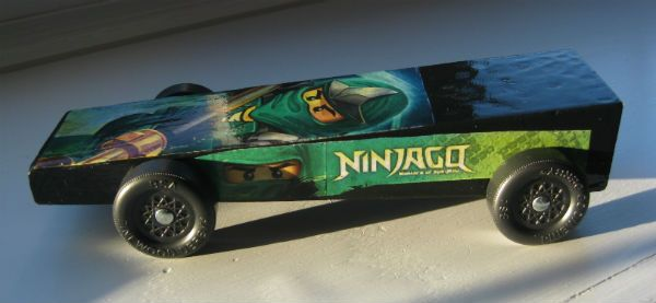 ninjago pinewood derby car built by charles for cub scouts. Black Bedroom Furniture Sets. Home Design Ideas