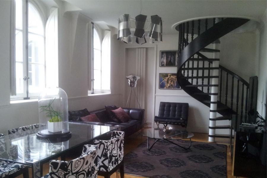 Bien Amenagement D Un Salon #13: Duplex - Paris Aménagement Du0027un Salon Et Du0027une Salle ...