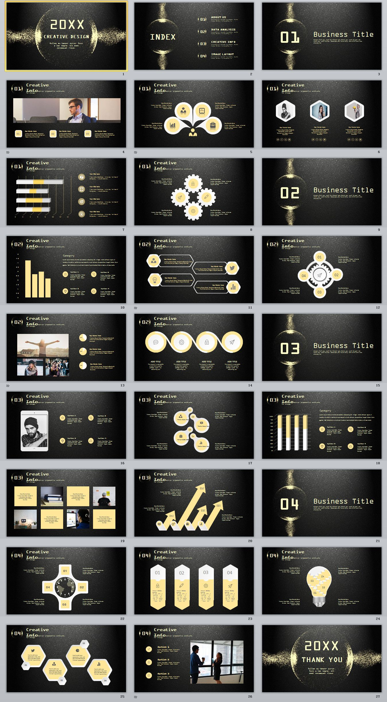 27+ golden creative business design powerpoint templates #powerpoint, Premium Powerpoint Templates, Powerpoint templates