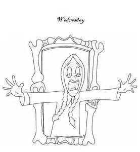 Wednesday Addams Coloring Page Coloring Pages Wednesday Addams Color