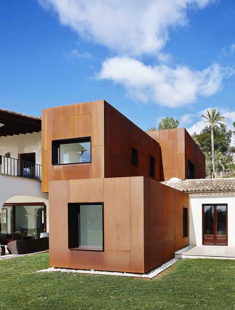 Gallery of Kubik Extension / GRAS Arquitectos - 2 Acier corten