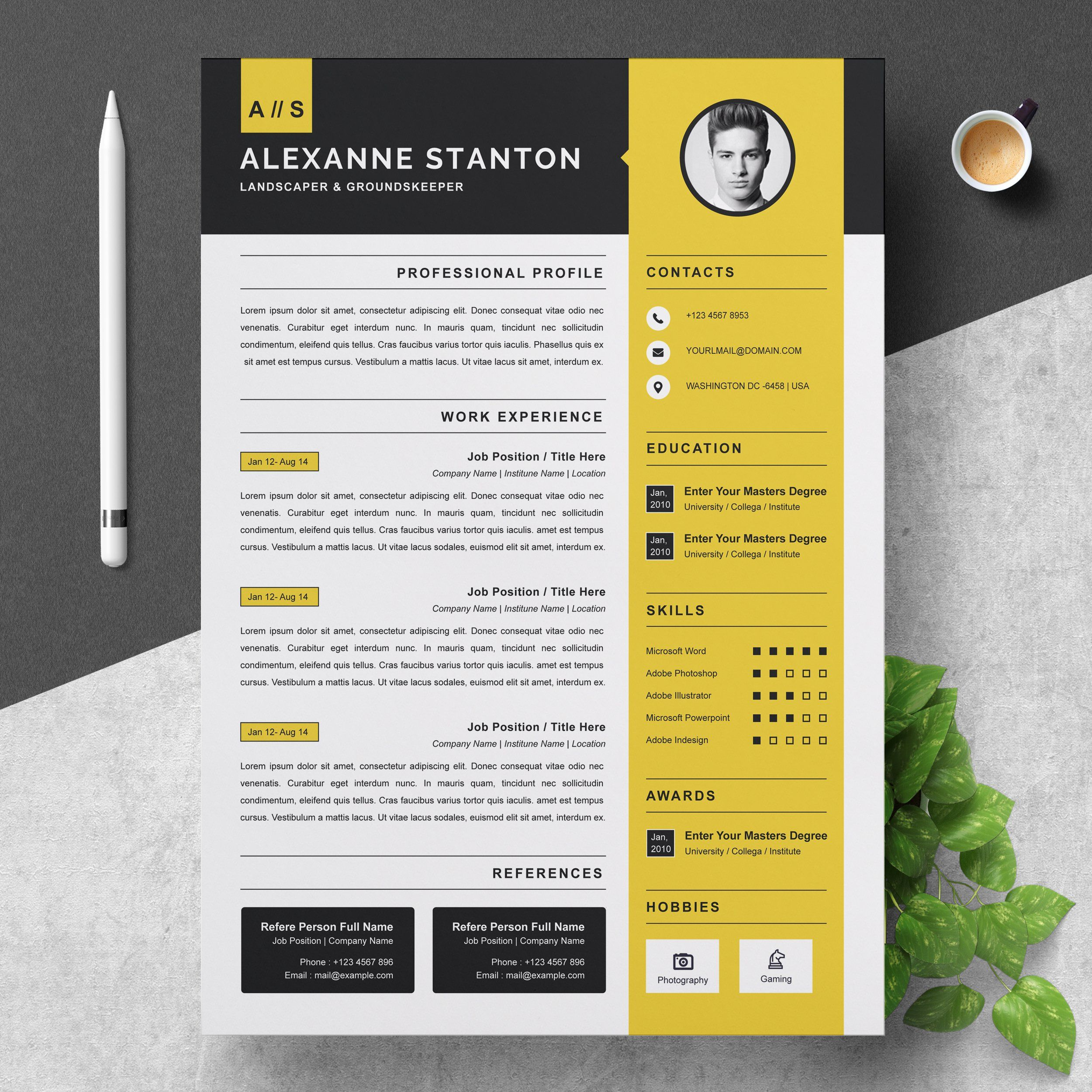 Resume Template Cv Design Template Cv Design Template Cv