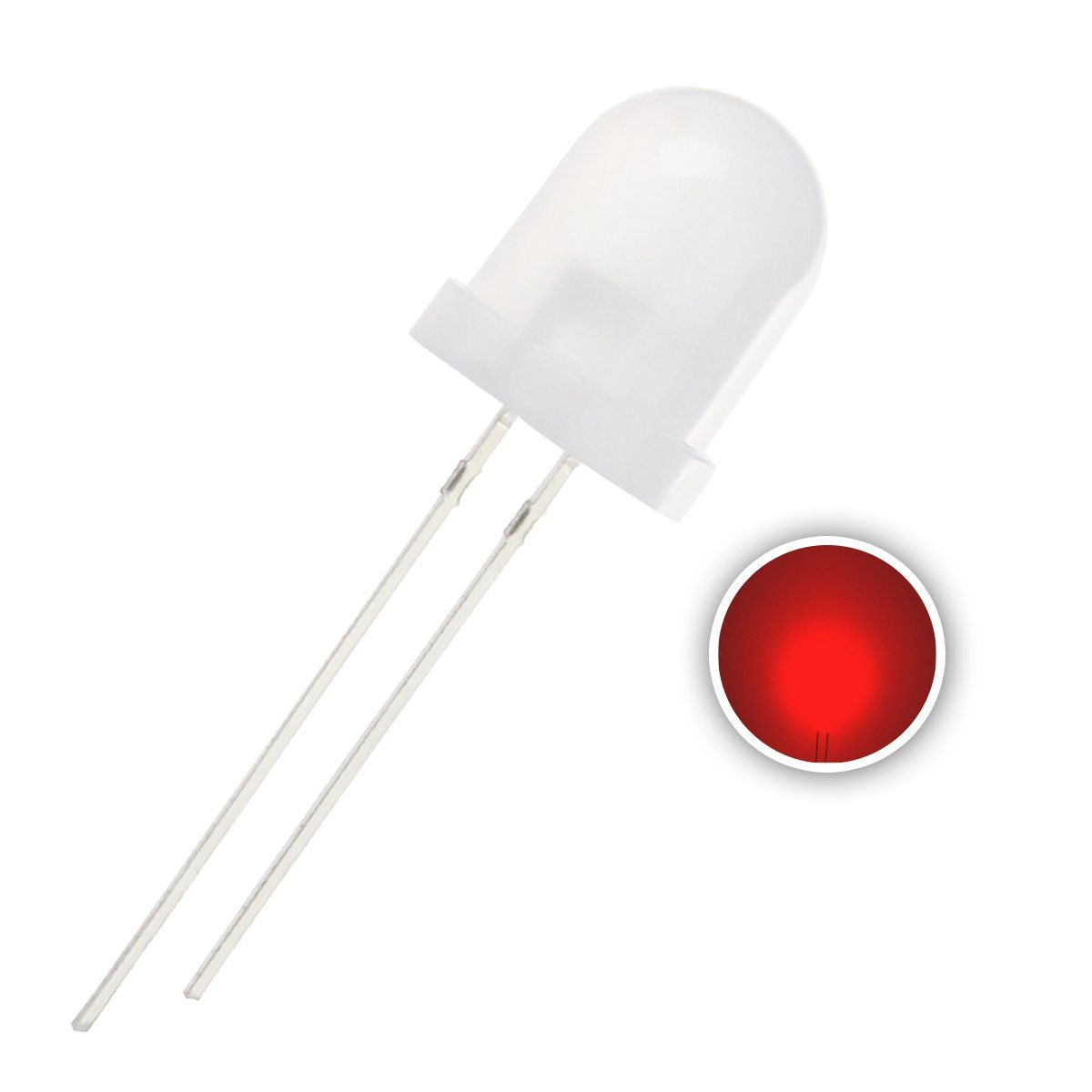 Chanzon 50 Pcs 10mm Red Led Diode Lights Diffused Round Dc 2v 20ma Lighting Bulb Lamps Electronics Components Light With Images Light Emitting Diode Led Diodes Light Bulb