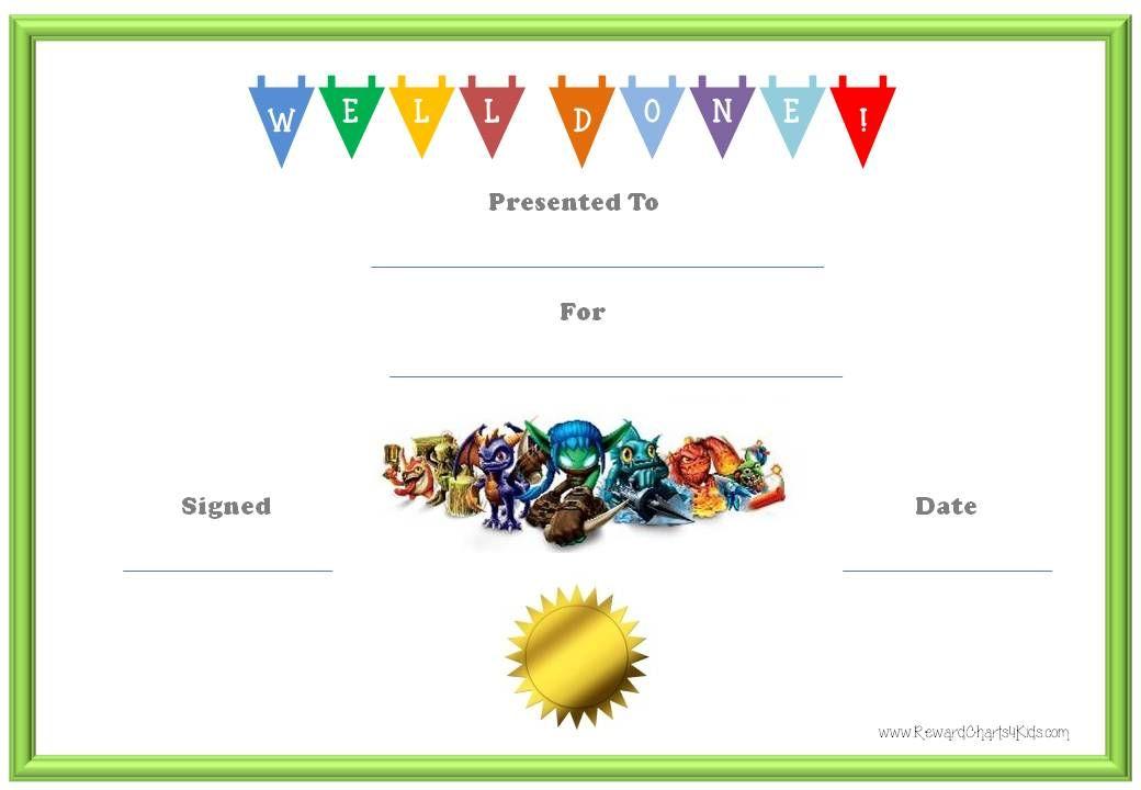 Printable Reward Certificates Forteforic