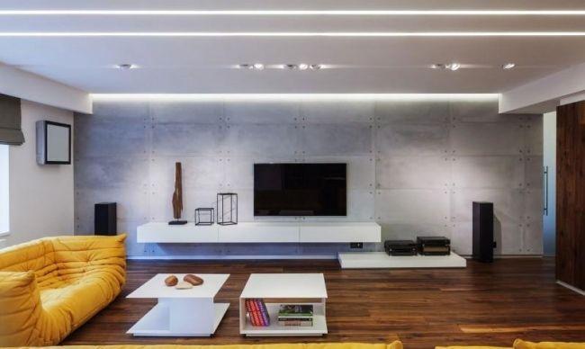 Wohnzimmer minimalistisch moderne wohnung studio 1408 zuk nftige projekte - Wohnzimmer minimalistisch ...