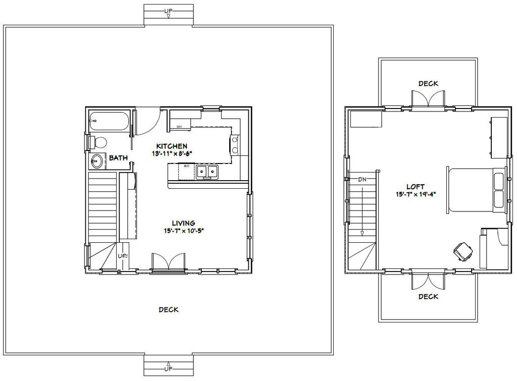 charming 20x20 cabin plans #4: 20X20H5 fp_zpscnqra5qy 20 x 20 house floor plans home design and style on  floor plan for