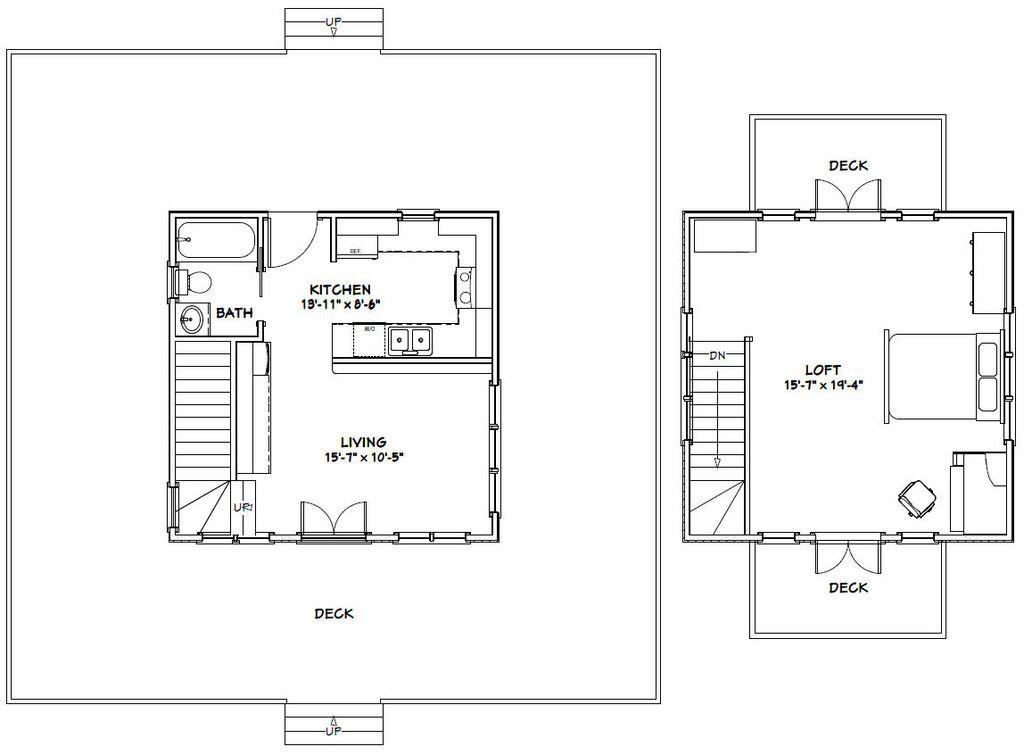 20x20h5 Fp Zpscnqra5qy 20 X 20 House Floor Plans Home