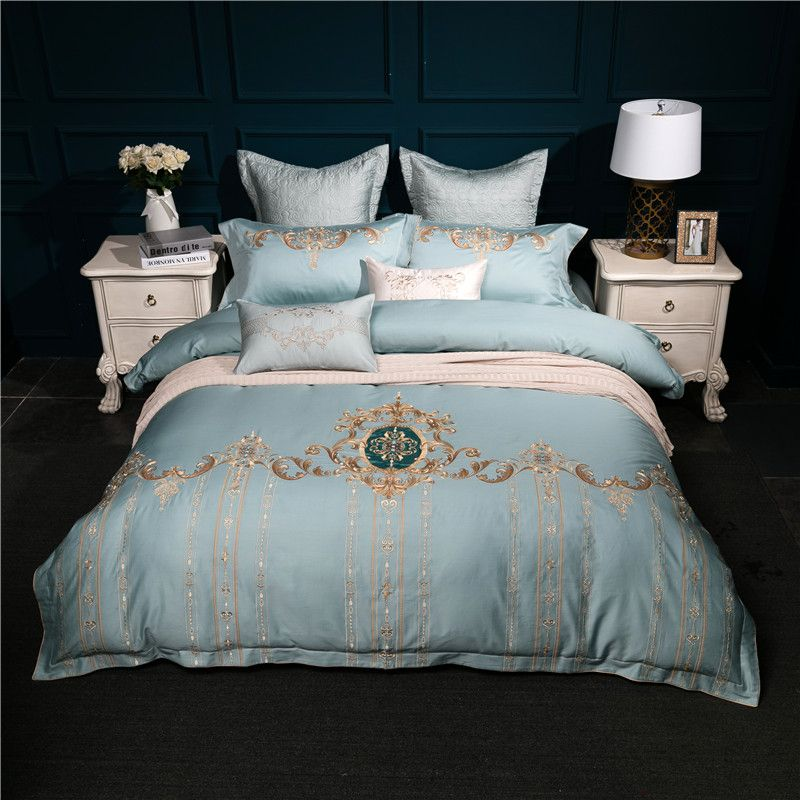 Noble Luxury Chinese Bedding Set Egyptian Cotton Embroidery Bed