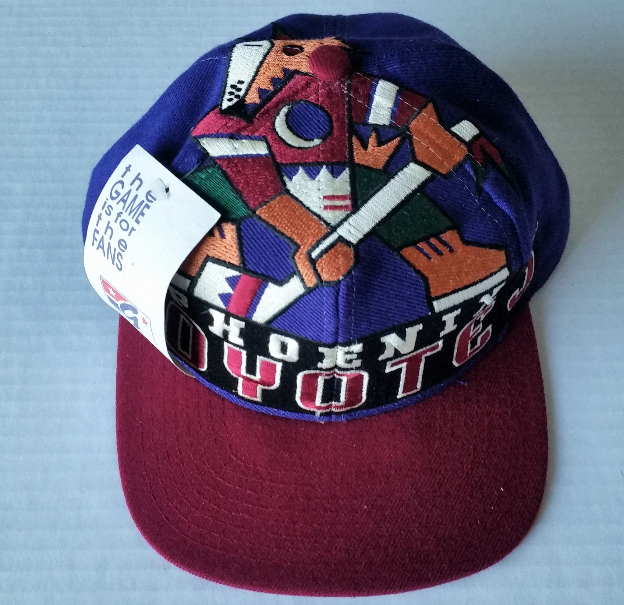 704df87a596 Phoenix Coyotes Vintage Snapback The Game Big Logo Hat NHL Cap RARE Starter  NWT