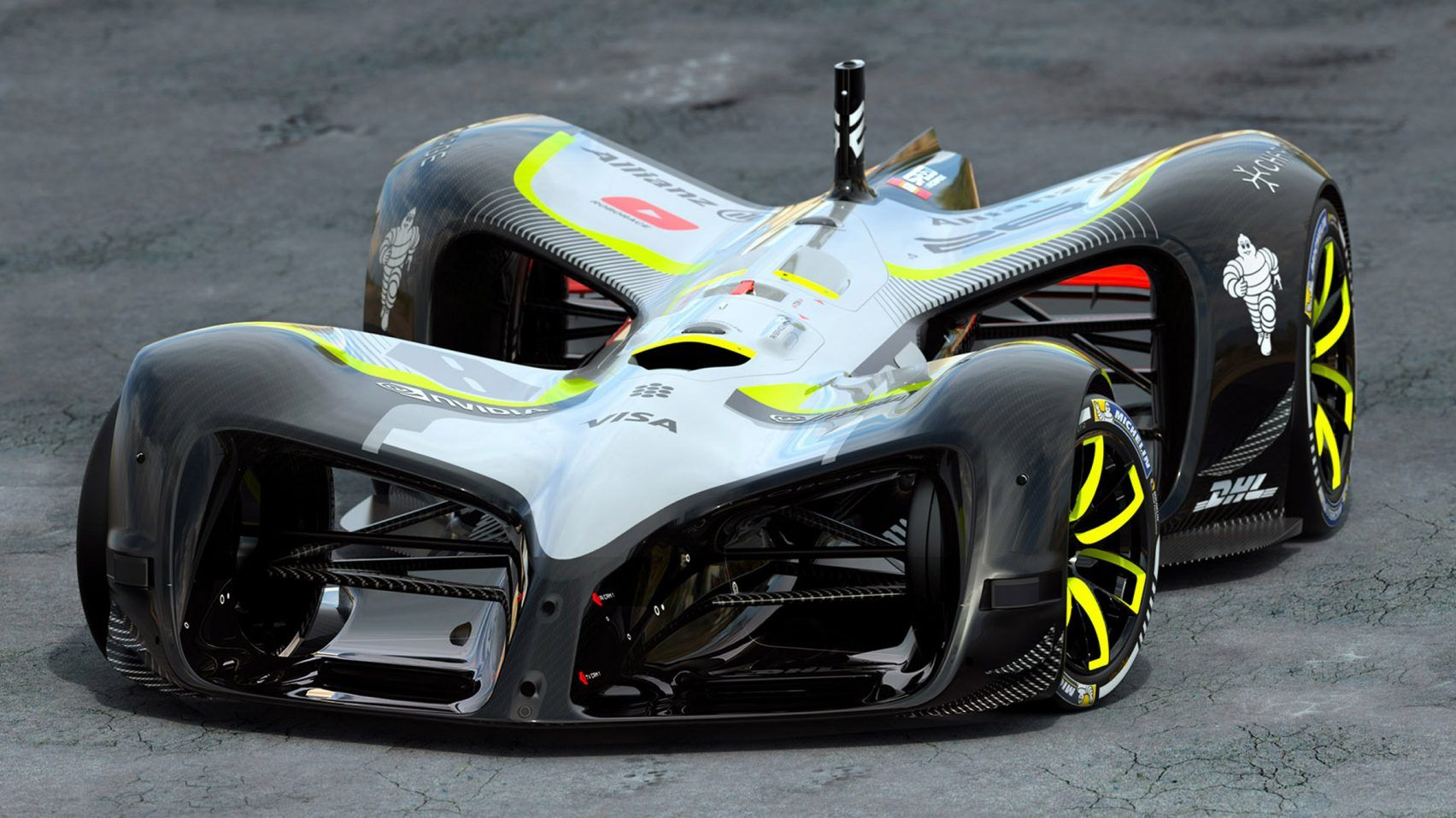 World's first driverless electric race car unveiled at MWC