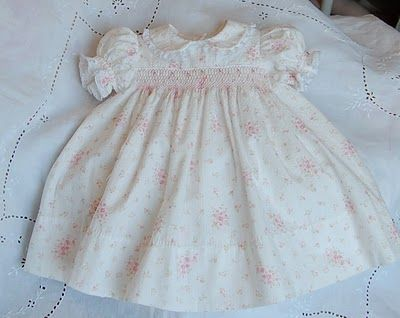 6dd150df81a72 The Old Fashioned Baby Sewing Room: Emmas Smocked Baby Dress - Classic View