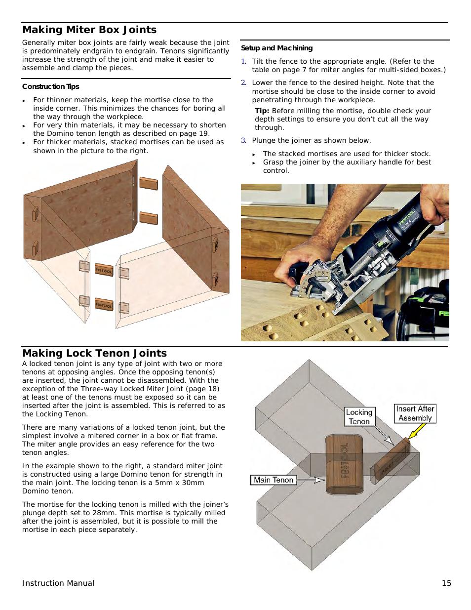 Festool Domino Df 500 Manual Page 15 Festool Woodworking Shop Woodworking