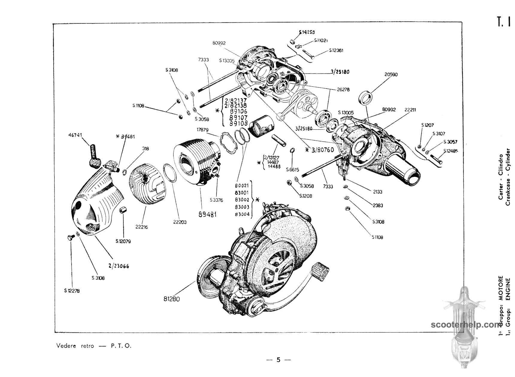 small frame vespa wiring diagram