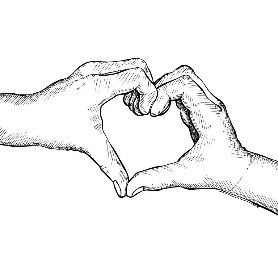 Line Art Heart Shape : My next tat idea using me and son s hands tattoos