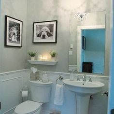 contemporary powder room pedestal sink design pictures remodel decor and ideas page 2 love the dog pix - Powder Room Pedestal Sink