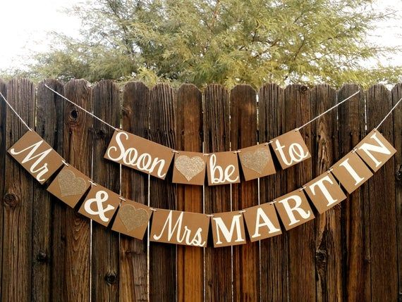 Engagement Banner, Soon to Be Mr & Mrs Banner, Engagement Party Decor, Rustic, Engagement Party Ideas, Wedding Reception, Couple Shower