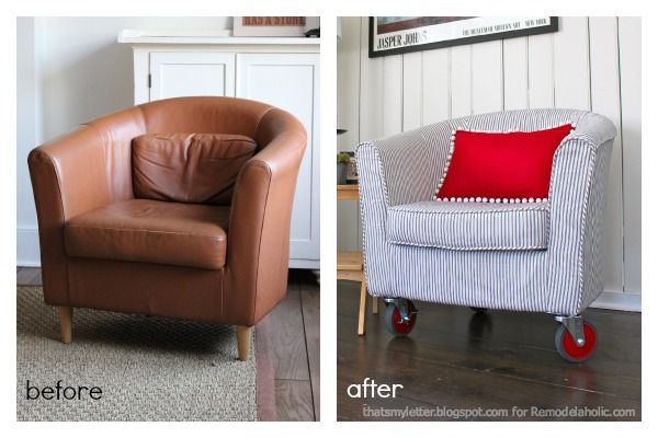 Remodelaholic How To Reupholster A Tub Chair Leather Tub