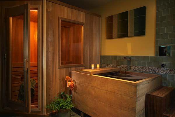 Pourquoi Pas Avec Un Petit Sauna Intgr Dans La Salle De Bain