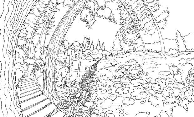 Colour The World With These Printable Colouring Book Scenes For Adults