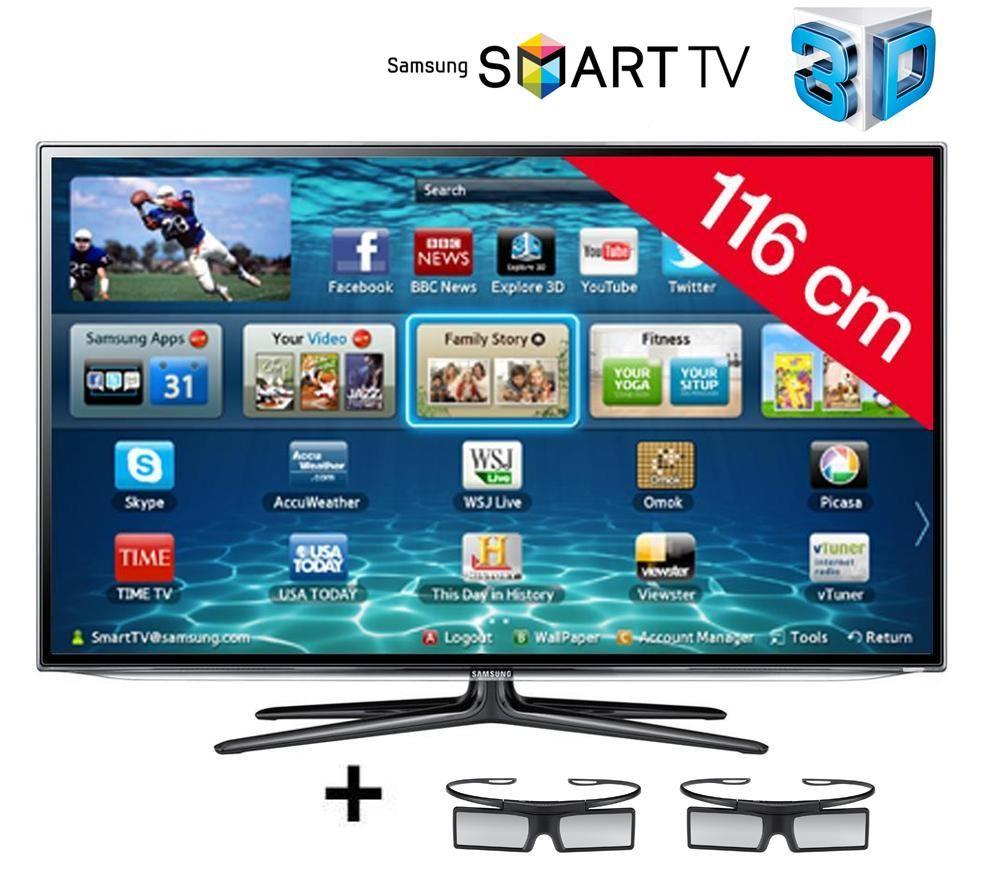 Televiseur 3d Carrefour Samsung Televiseur Led Ue46es6300