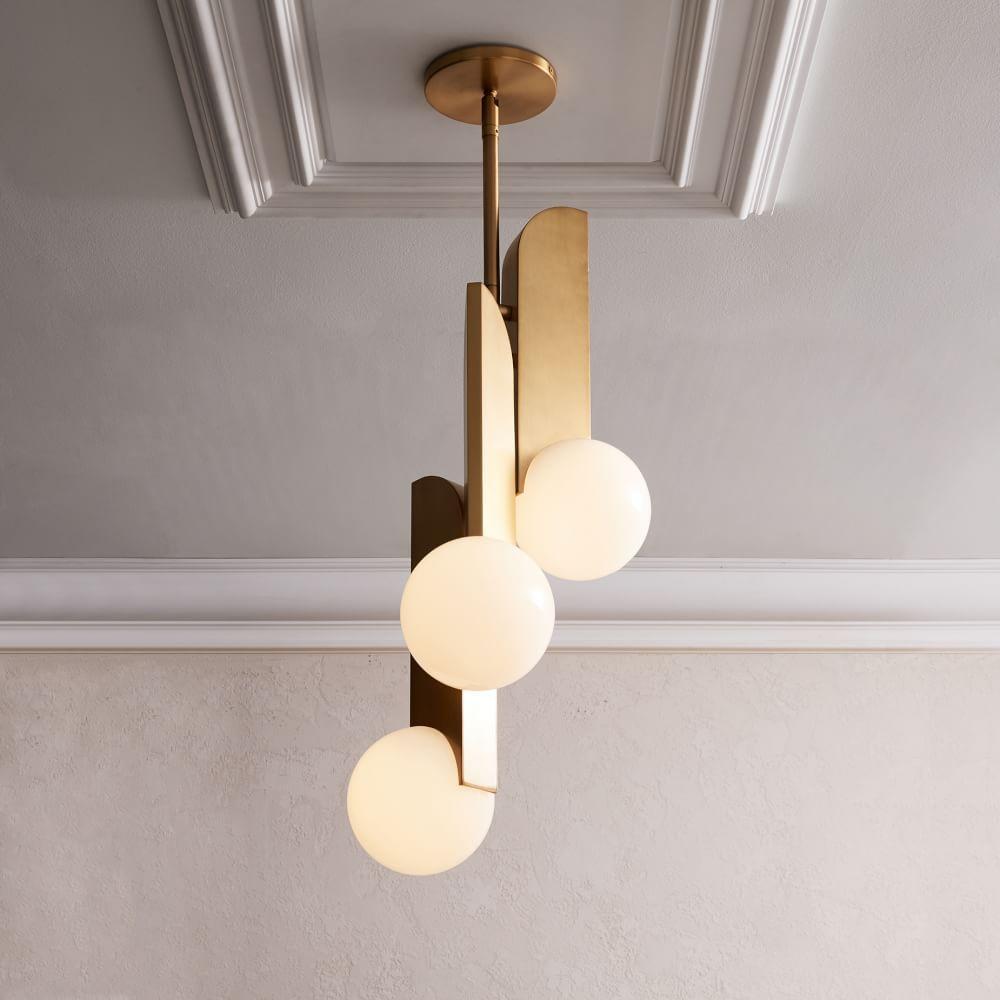 Bower Led Chandelier In 2020 Led Chandelier Modern Lighting Design Glass Diffuser