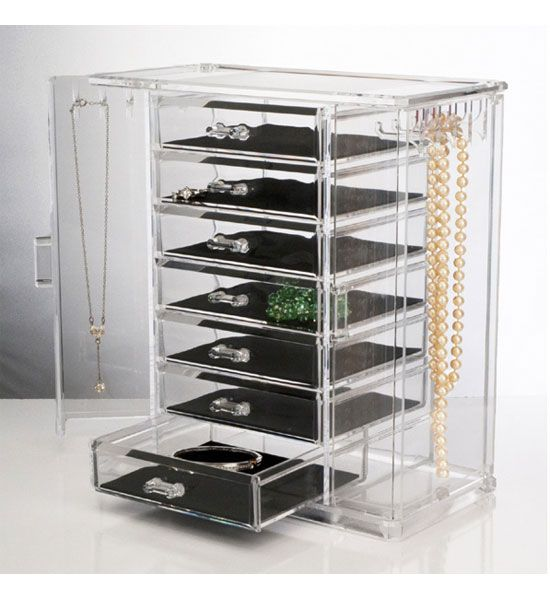 Acrylic Jewelry Chest and Necklace Holder in Jewelry Boxes and