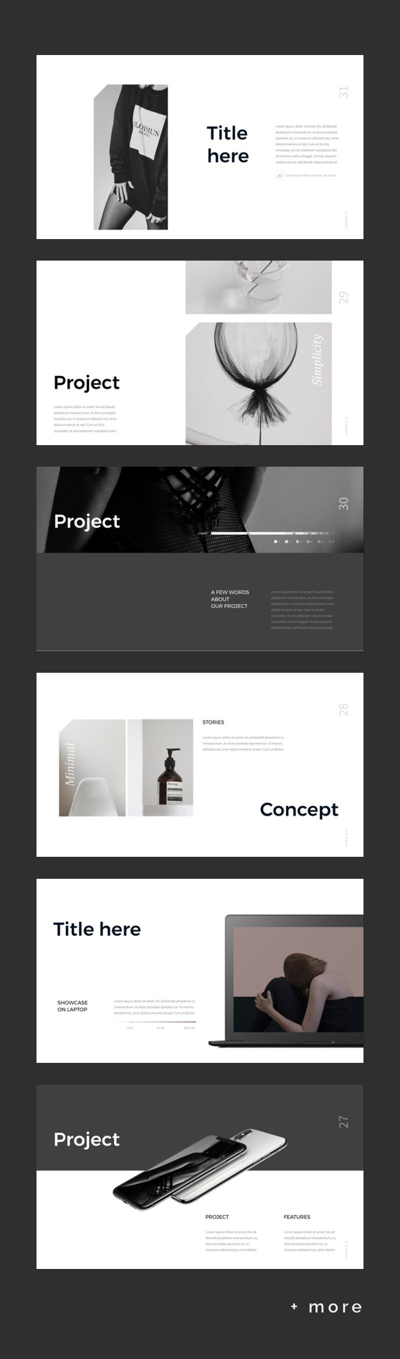 simple minimal presentation template keynote presentation