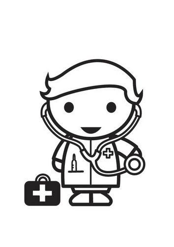Apoyo Escolar Ing Maschwitz Pictograma El Hospital Doctor Para Colorear Educacion Infantil Dibujos De Profesiones