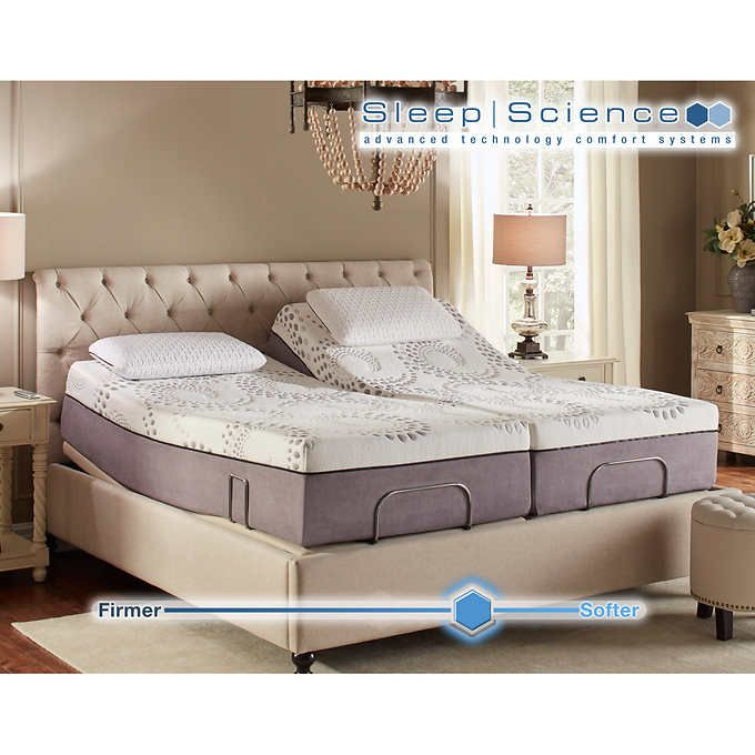 Sleep Science Ara 13 Split Cal King Memory Foam Mattress With