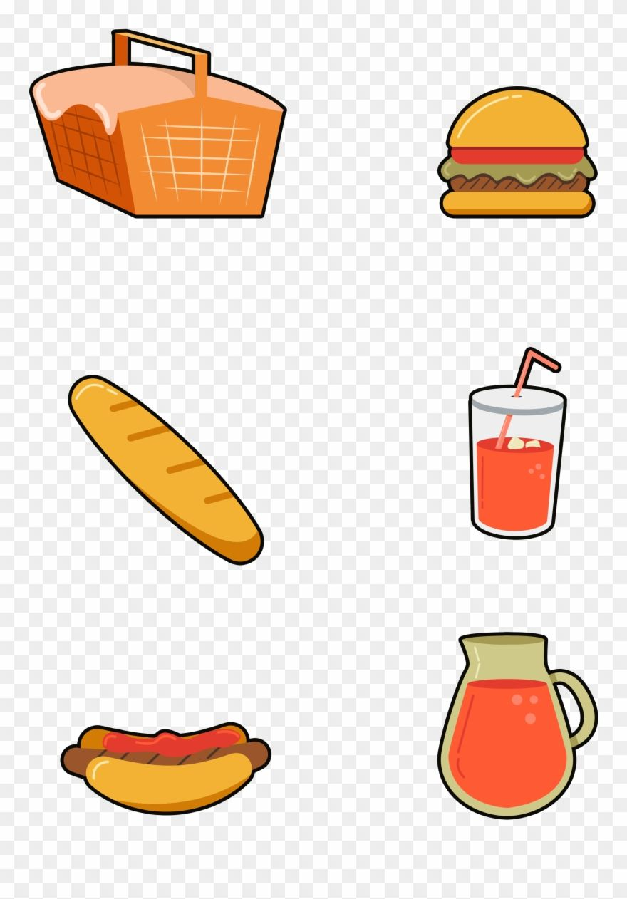 Hand Drawn Cartoon Fast Food Png And Psd Png Download Fast Food Clipart 4440655 Is A Creative Clipart Download Food Png Food Clipart How To Draw Hands