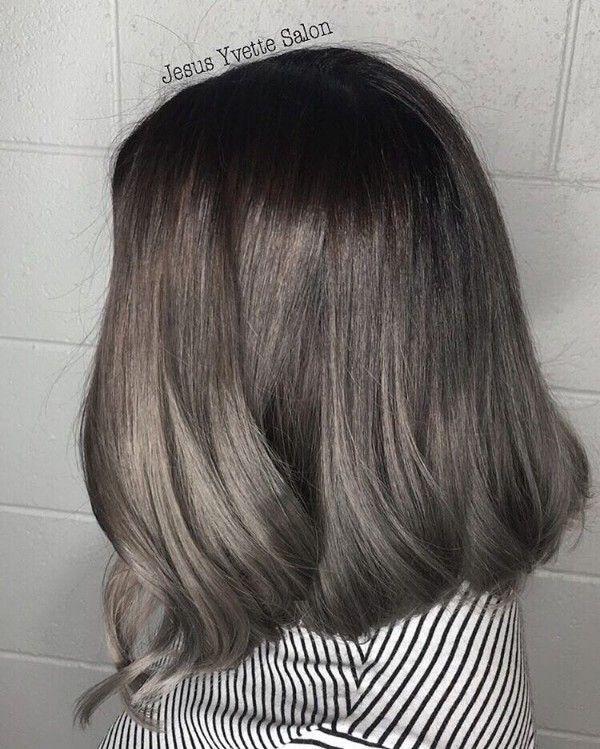 blending grey into brown hair - Google Search | Hair | Pinterest