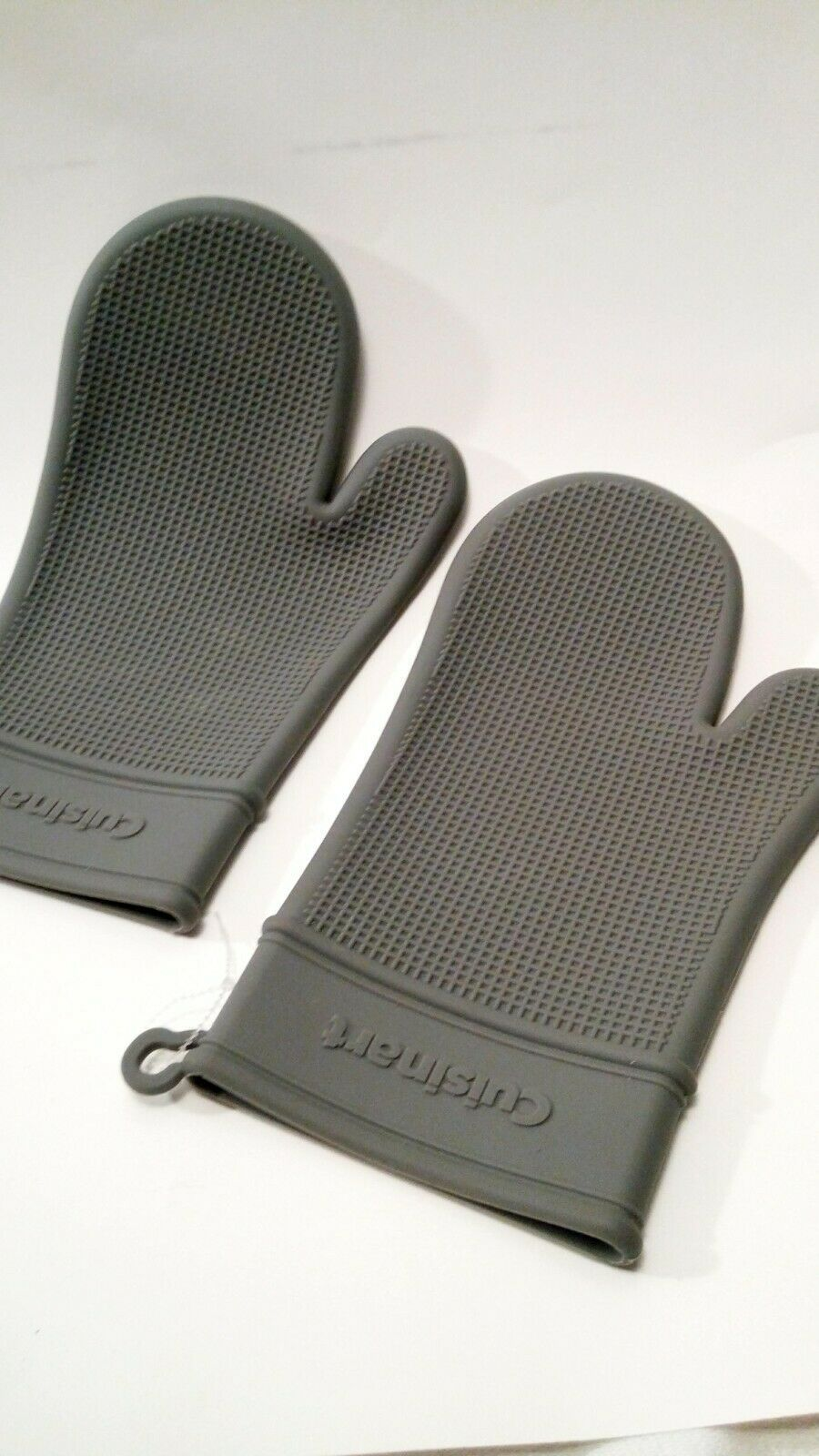 Cuisinart 2 Pack Grey Silicone Oven Mitts Grilling Potholders Ebay Silicone Oven Mitt Oven Mitts Pot Holders