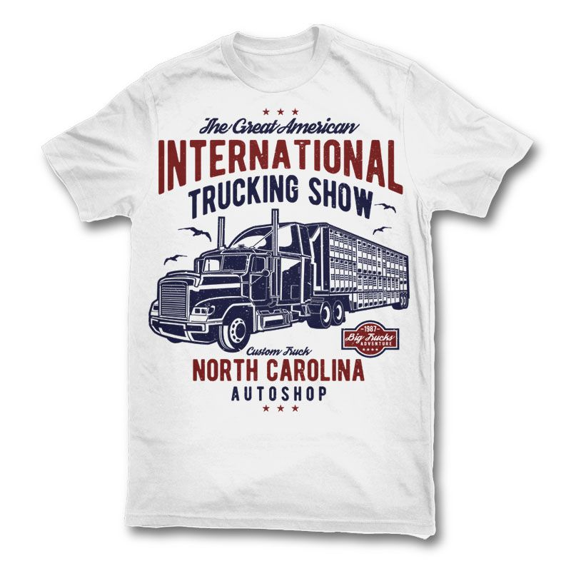 Big Truck Tshirt Designs Shirt Designs T Shirt Design Vector