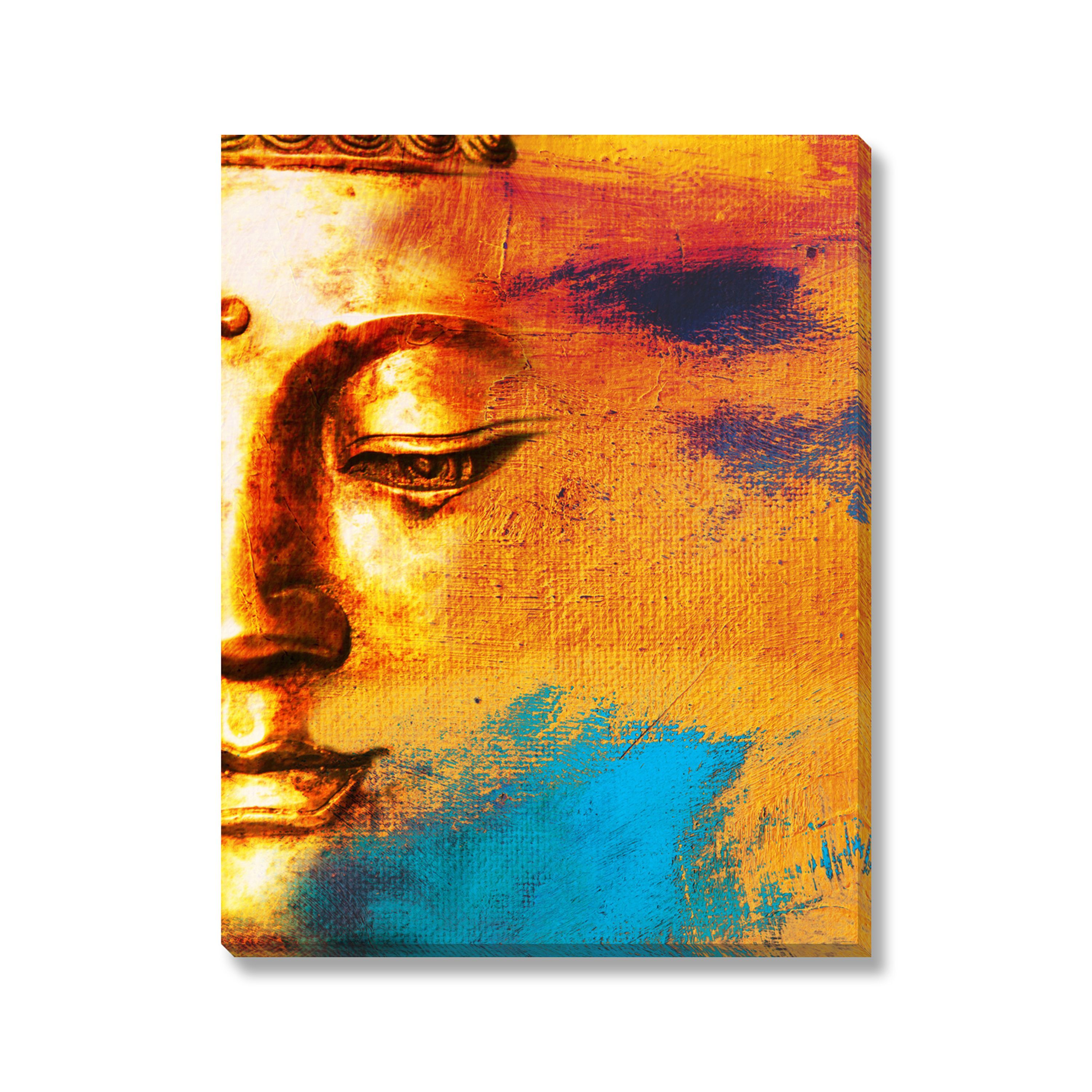 Gallery Direct Leshabu 'Abstract Buddha' Gallery Wrapped