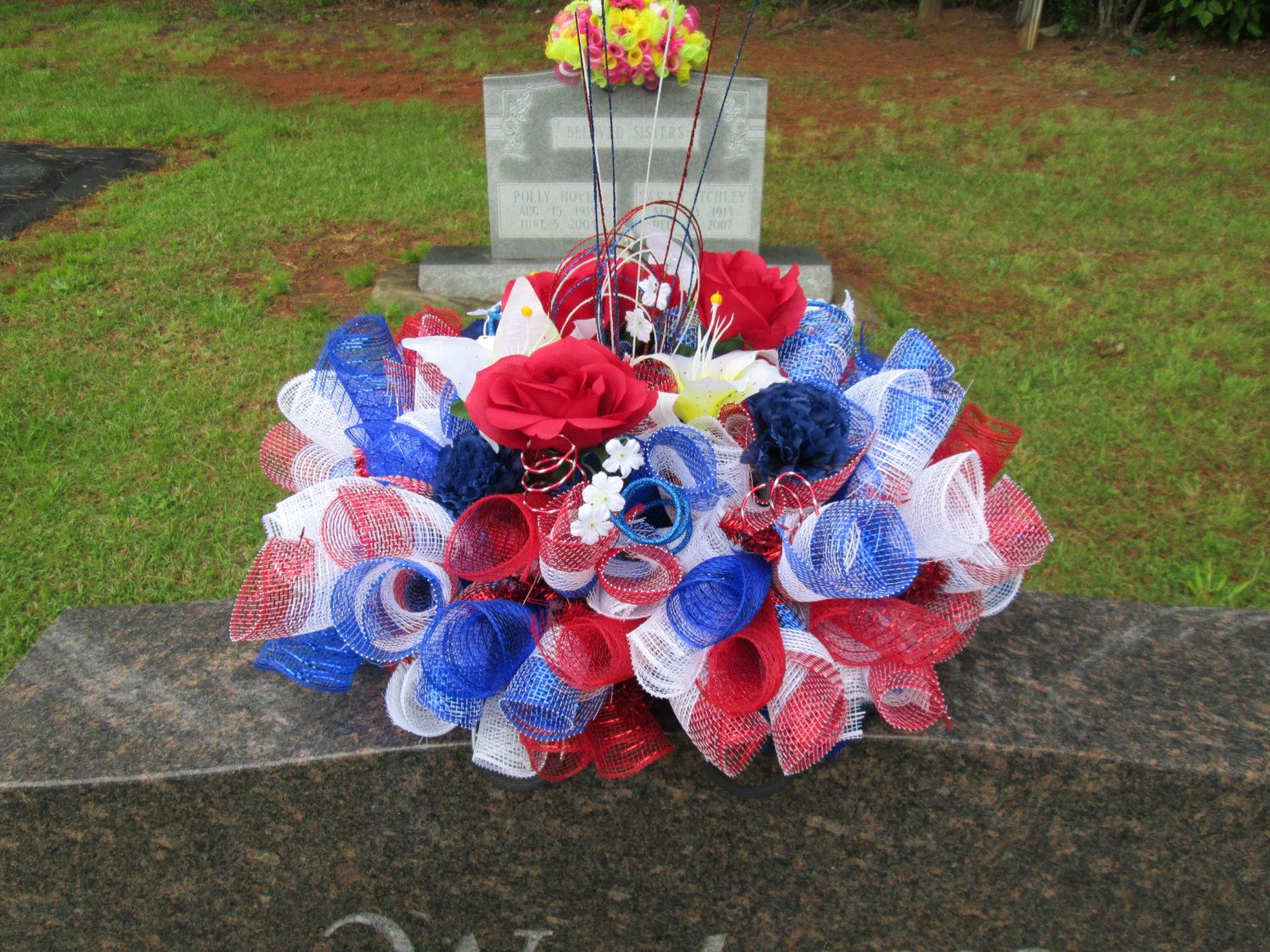 Memorial Day Grave Decorations 8