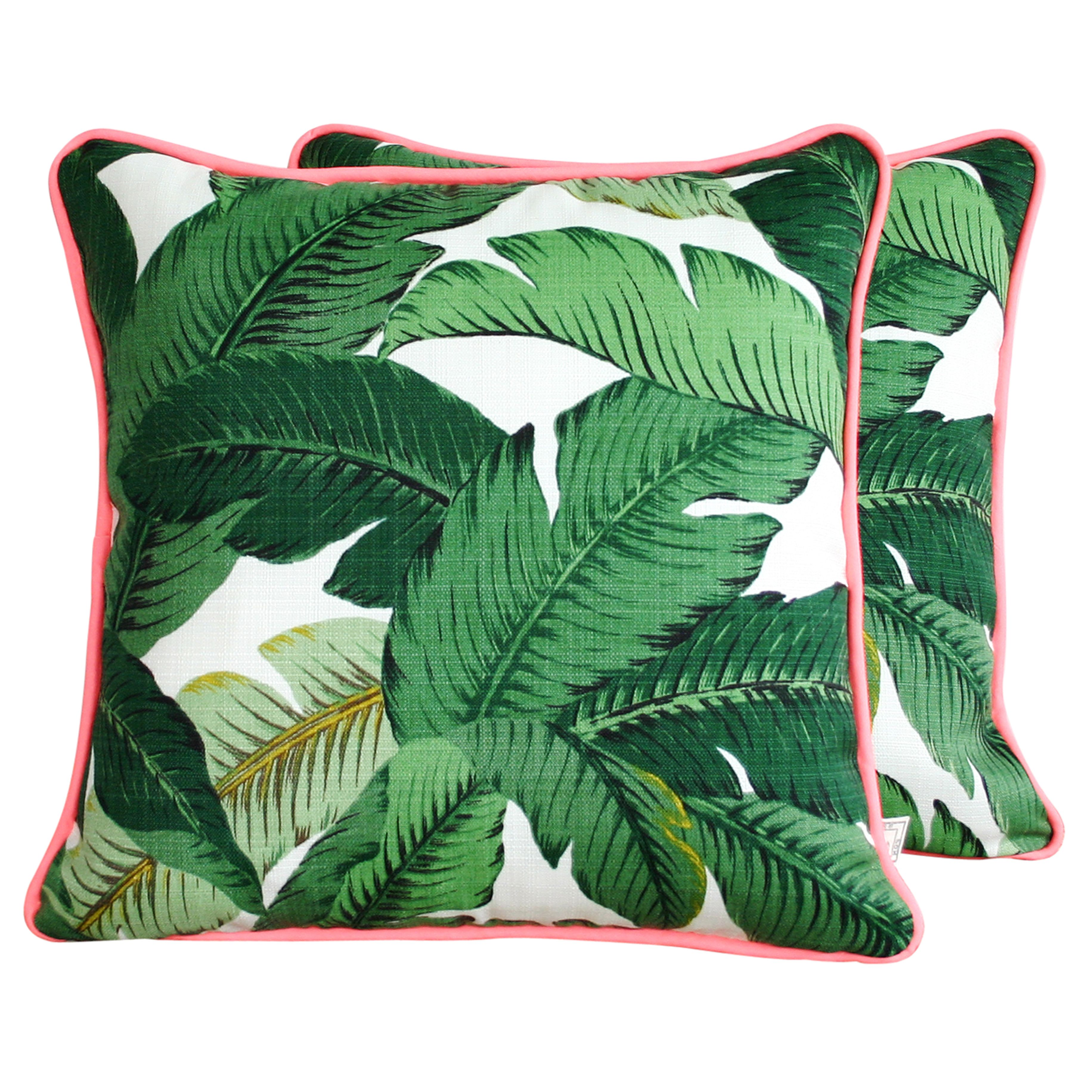 20 Pieces To Help You Achieve Patio Perfection Banana Leaf Print