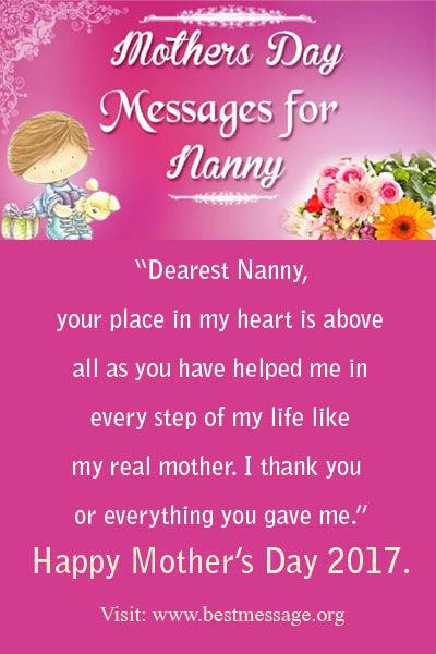 mothers day messages for nanny mothers day wishes pinterest