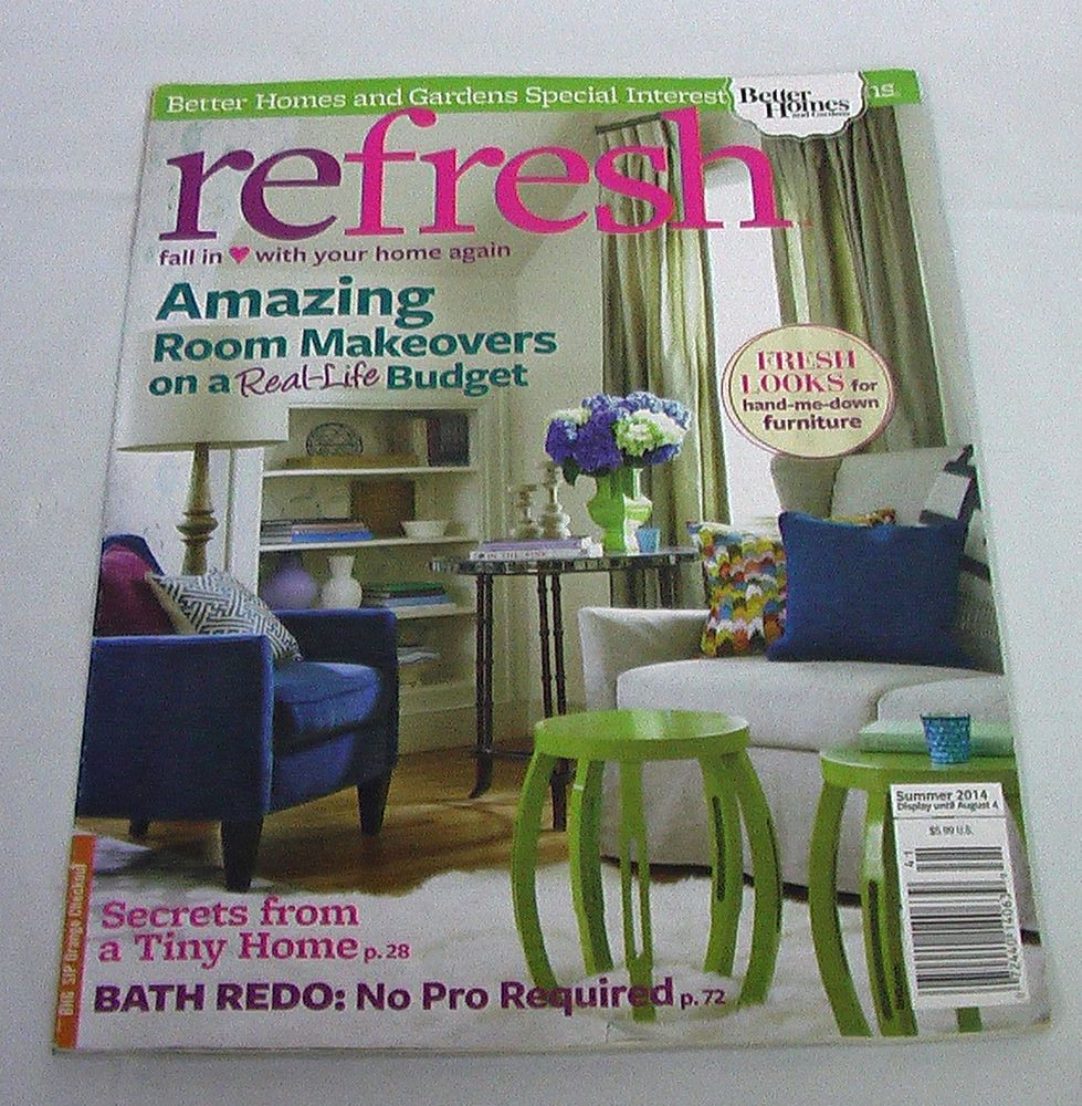 Tiny Home Summer BHG Refresh Magazine Furniture Makeovers Renovate DIY Interior