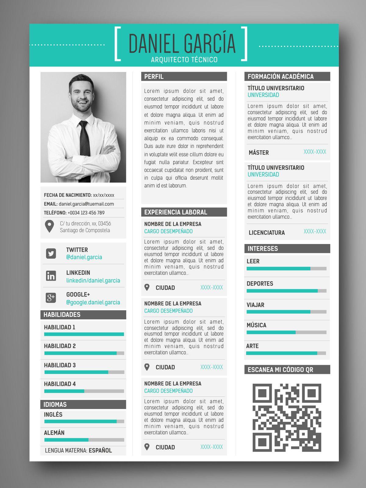 Currículum ROMA Curriculum vitae creativos, Diseños de