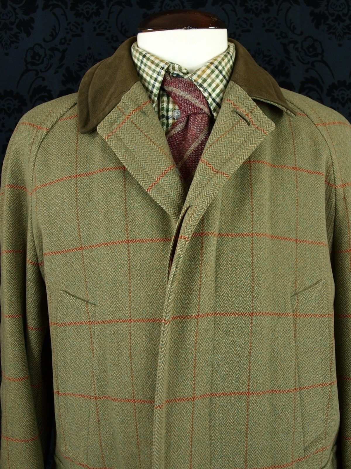 Superb Mens Austin Reed Bladen Tweed Field Shooting Hunting Coat 44 Short Large Ebay Hunt Coat Tweed Austin Reed
